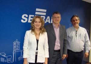 Jovelina e Scirea com o diretor-superintendente do Sebrae no Paraná, Vitor Tioqueta