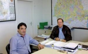 Cantelmo Neto foi recebido em Curitiba pelo diretor de Operações do DER, Gilberto Pereira Loyola
