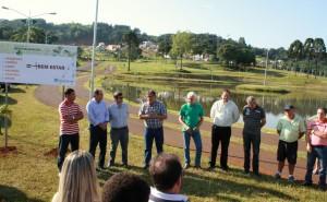 No Parque da Cidade Norte, prefeito em exercício, Eduardo Scirea, faz o lançamento do programa de revitalização que contemplará todos os parques da cidade