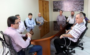 Governador foi recebido no gabinete pelo prefeito Cantelmo Neto