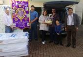 Lions Clube entrega Colchoes e cestas básicas, que foram repassadas para as famílias que foram afetadas pela enchente 2014 Em Francisco Beltrão.