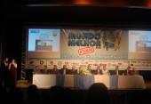 Mesa de Honra, com varias autoridades, diretos da UNISEP,Prefeito de Dois Vizinhos, e patrocinadores.