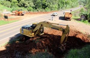 Abas de desaceleração deverão melhorar a entrada na estrada vicinal pela rodovia