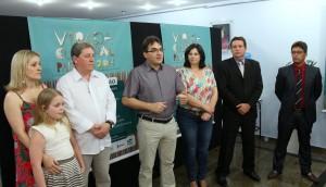 Miguel foi apresentado pelo prefeito Cantelmo Neto na segunda-feira