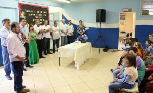 Evento na escola reuniu alunos e moradores para oficializar a autorização das obras