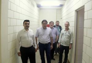 Joabe Barbosa, prefeito Cantelmo Neto, Eduardo Scirea e Saudi Mensor durante visita à penitenciária de Francisco Beltrão, nesta sexta