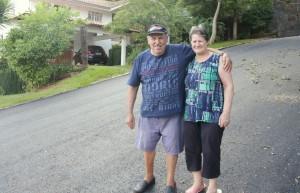 Seu Getúlio e dona Izabel Padilha moram no alto do Industrial e disseram que acessibilidade melhorou após a pavimentação da Octaviano Teixeira dos Santos
