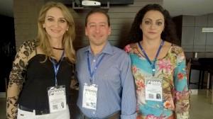 Secretária Jovelina Chaves e agente de desenvolvimento local Angela Paludo com Luiz Marcelo Padilha, coordenador de Políticas Públicas e Desenvolvimento Territorial do Sebrae/PR