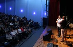 Prefeito Cantelmo Neto e o diretor de Cultura, Miguel Seymur, lançaram o Marreco da Canção sexta-feira, no Espaço da Arte