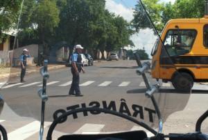 Agentes do Debetran irão orientar os veículos e liberar o tráfego gradativamente para evitar a obstrução de cruzamentos próximos ao parque de exposições e em trevos