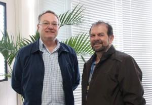 Secretários Neri Schneider e Viro de Graauw se reuniram nesta semana para fazer o levantamento de espaços para a competição