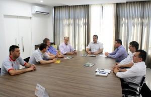 Representantes de clubes de Rotary se reuniram com o prefeito Cantelmo Neto para debater o projeto de melhoria da segurança na Bica d'Água