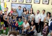 Direção, professores e APMF da Escola Rubens Amélio Bonato