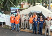 Estande da Defesa Civil reúne instituições públicas e entidades dentro da área de segurança da Expobel