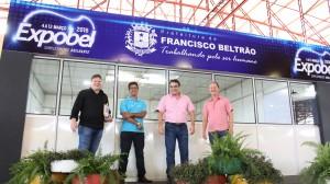 Fernando Steimbach, Adams Brizola e Saudi Mensor acompanharam o prefeito Cantelmo Neto no gabinete do centro de eventos