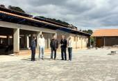 Aldair Cambui, Vinicius Maronezi, Valdir Macagnan, Gevásio Kramer e Mônica Miró em visita às obras da escola do Industrial, que estão em fase de conclusão