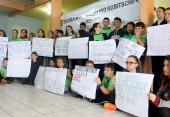 Alunos da escola JK,e m Rio Tuna, participaram de atividades elaborando textos, cartazes, desenhos e até vídeos com depoimentos sobre a pichação