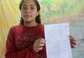 """A aluna Kauany dos Santos fez uma redação sobre o tema: """"foi como se pichassem a nossa moral"""""""