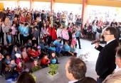 Prefeito Cantelmo Neto e o vice, Eduardo Scirea, com lideranças do Industrial entregaram as obras da nova escola que atenderá também os bairros São Cristóvão e Água Branca