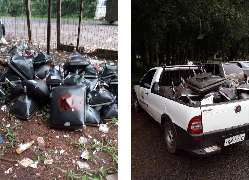 Fotos descarte e recolhimento de resíduos eletroeletrônicos