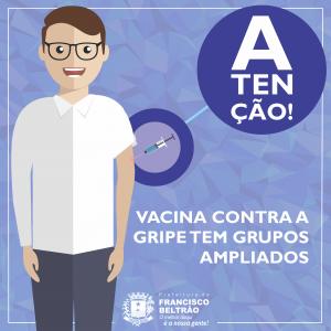 VACINACAO CONTRA A GRIPE - GRUPOS AMPLIADOS