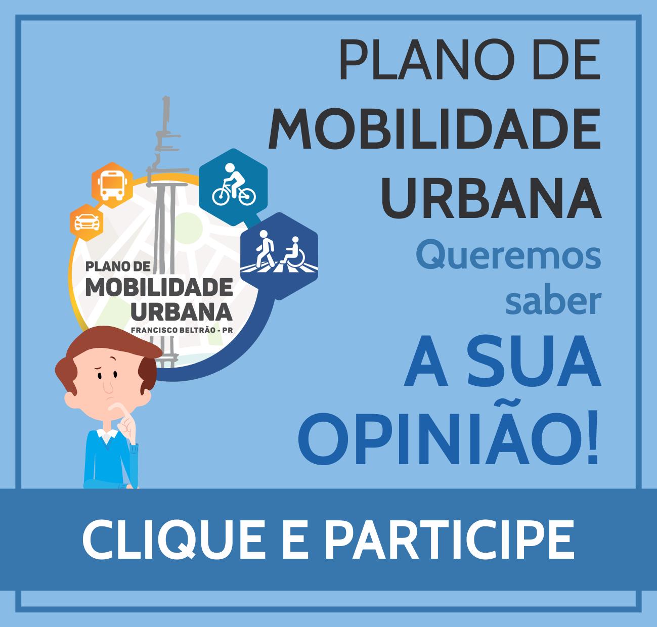 PLANO DE MOBILIDADE URBANA - FORMULÁRIO